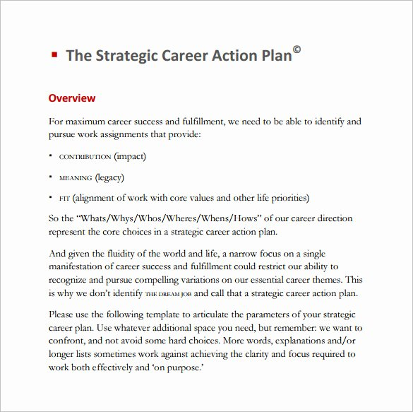 Career Action Plan Template Beautiful 12 Career Action Plan Templates Doc Pdf Excel