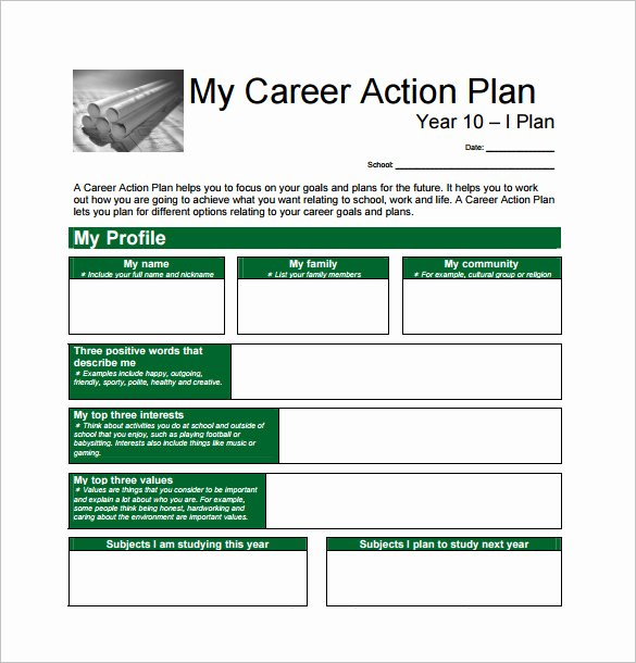 Career Action Plan Template Best Of 12 Career Action Plan Templates Doc Pdf Excel
