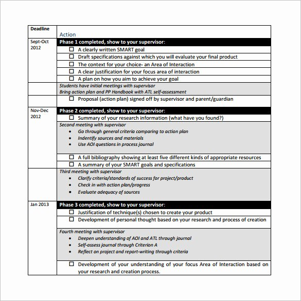 Career Action Plan Template Fresh Project Action Plan Template 11 Free Pdf Word format