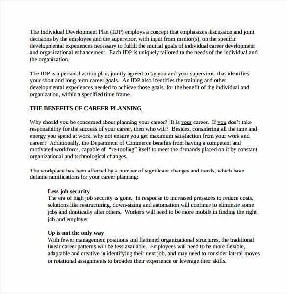 Career Action Plan Template Fresh Sample Career Plan 11 Documents In Pdf Word