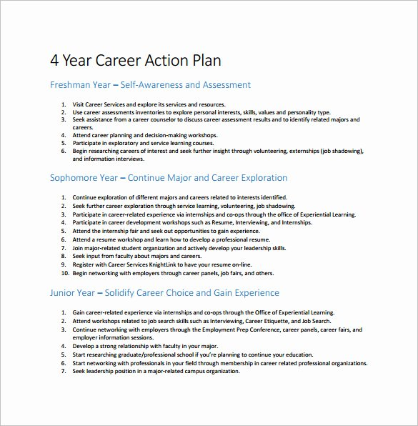 Career Action Plan Template New 12 Career Action Plan Templates Doc Pdf Excel
