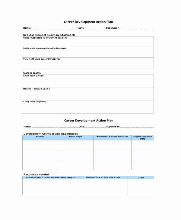 Career Action Plan Template Unique 46 Sample Action Plans