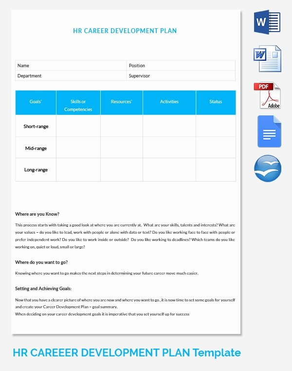 Career Development Plan Template Elegant Hr Strategy Template 39 Word Pdf Documents Download