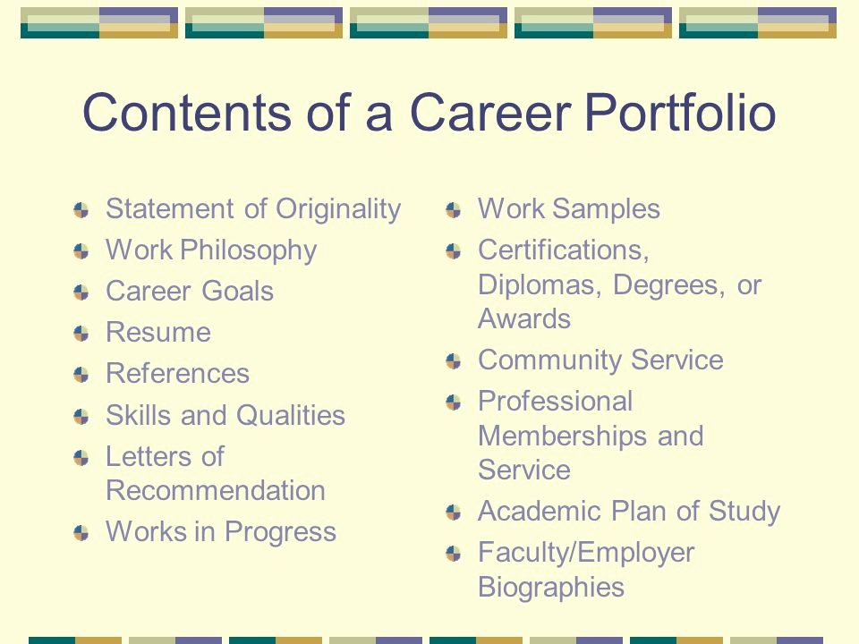 Career Portfolio Template Powerpoint Luxury Career Portfolios Ppt Video Online
