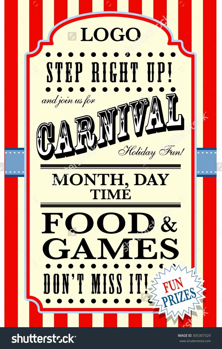 Carnival Flyer Template Free Awesome 13 Best Carnival Flyer Ideas Images On Pinterest