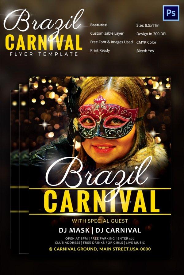 Carnival Flyer Template Free Elegant Carnival Flyer Template 51 Free Psd Ai Vector Eps