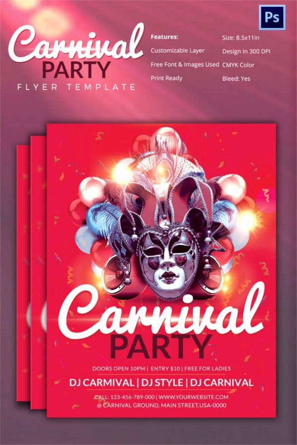 Carnival Flyer Template Free Inspirational Carnival Flyer Template 51 Free Psd Ai Vector Eps