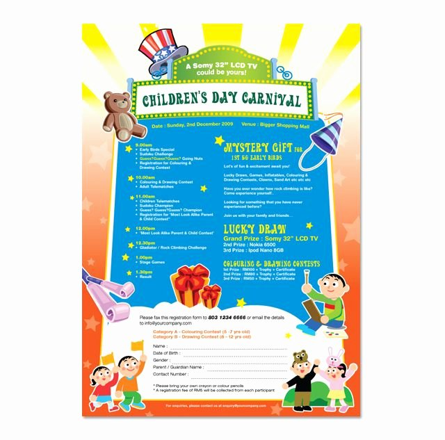 Carnival Flyer Template Free Inspirational Children S Day Carnival Flyer Template Youts