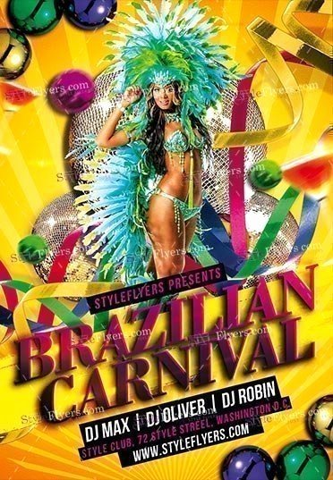 Carnival Flyer Template Free Luxury Brazilian Carnival Psd Flyer Template Styleflyers