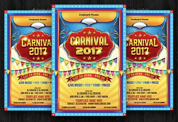 Carnival Flyer Template Free Luxury Carnival Flyer Template 52 Free Word Psd Ai Vector