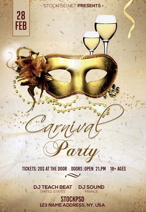 Carnival Flyer Template Free Luxury Carnival Party Free Psd Flyer Template Free Flyer for
