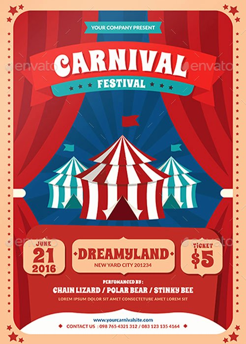 Carnival Flyer Template Free New top 30 Best Carnival Flyer Templates 2017 Download Psd