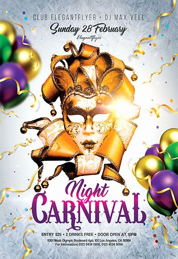 Carnival Flyer Template Free Unique Carnival Party – Free Flyer Psd Template – by Elegantflyer