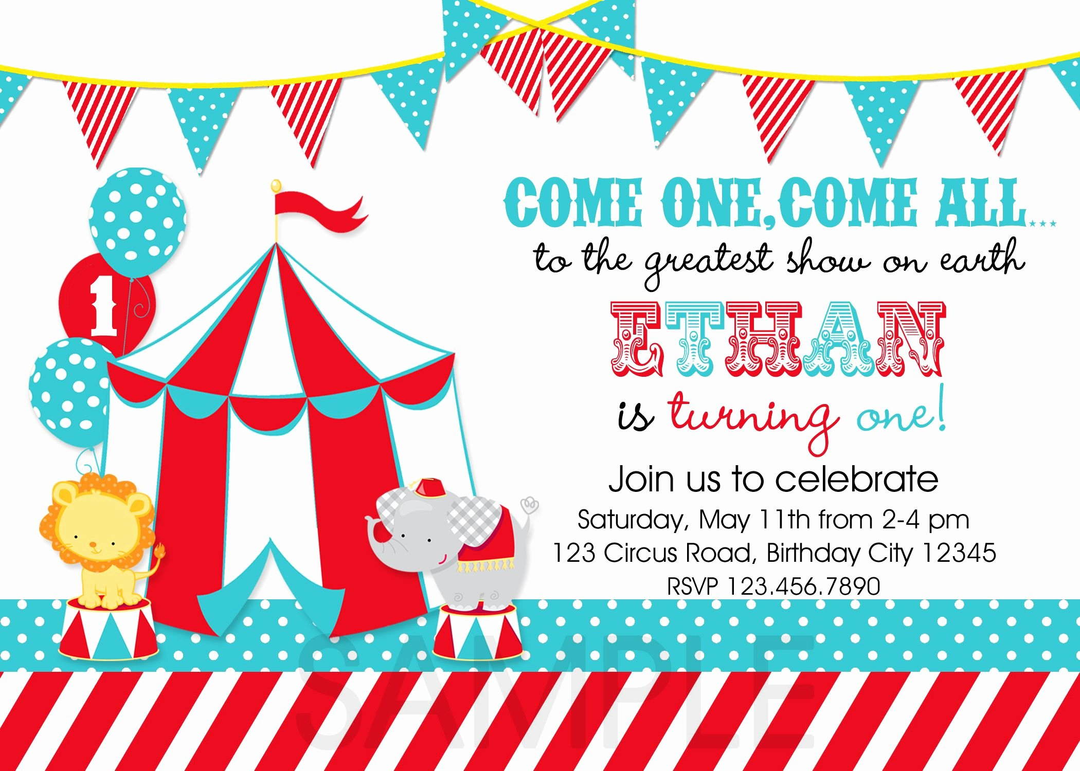 Carnival Invitation Template Free Awesome Circus Party Invitations Template 3zcfy9xw