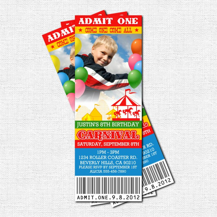 Carnival Invitation Template Free Awesome Free Carnival Ticket Invitation Template Download Free