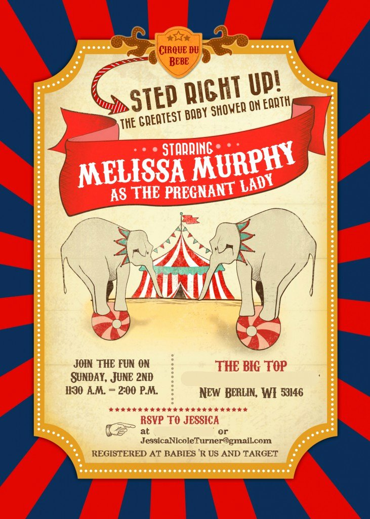 Carnival Invitation Template Free Beautiful Circus Baby Shower – Invitations & Decor Part 1 Of 2