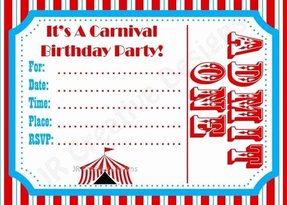 Carnival Invitation Template Free Beautiful Free Carnival Birthday Invitations Template Google