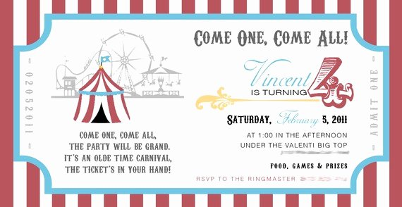 Carnival Invitation Template Free Best Of Carnival themed Invitations Templates Free Free Programs