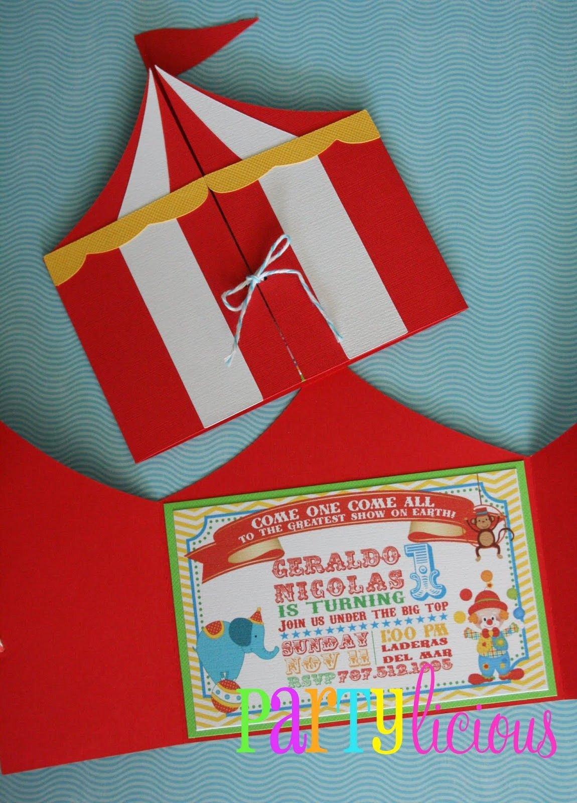 Carnival Invitation Template Free Elegant Circus Invitations On Pinterest