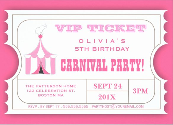 Carnival Invitation Template Free Fresh 27 Carnival Birthday Invitations Free Psd Vector Eps