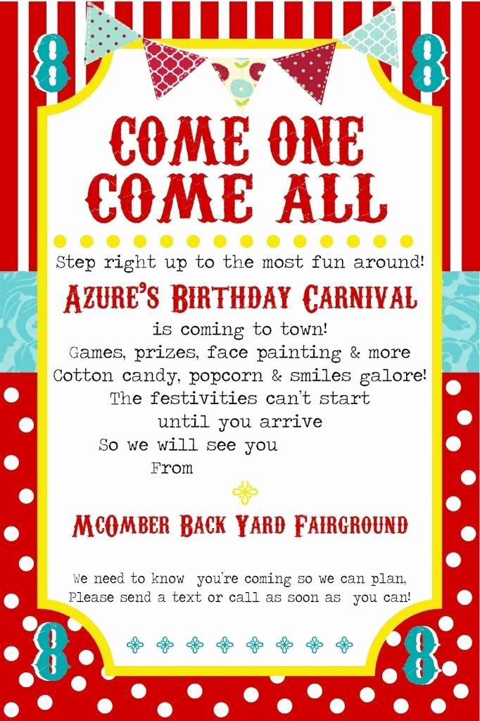 Carnival Invitation Template Free Fresh Free Printable Carnival Party Invitation Template