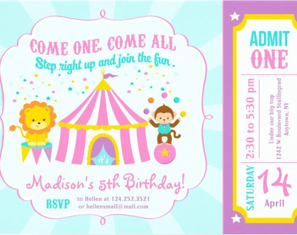 Carnival Invitation Template Free Lovely 27 Carnival Birthday Invitations Free Psd Vector Eps