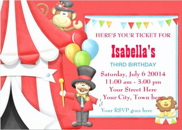 Carnival Invitation Template Free Unique 27 Carnival Birthday Invitations Free Psd Vector Eps