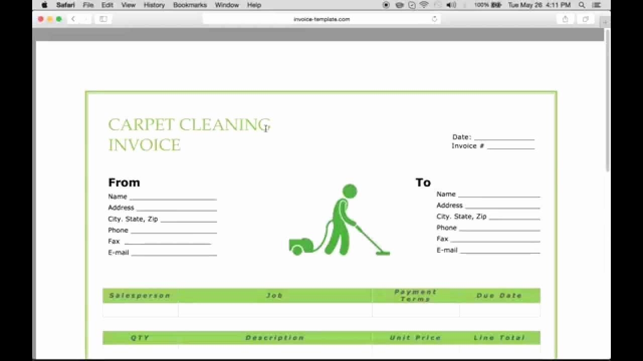 Carpet Cleaning Estimate Template Beautiful Make A Carpet Service Cleaning Invoice Pdf