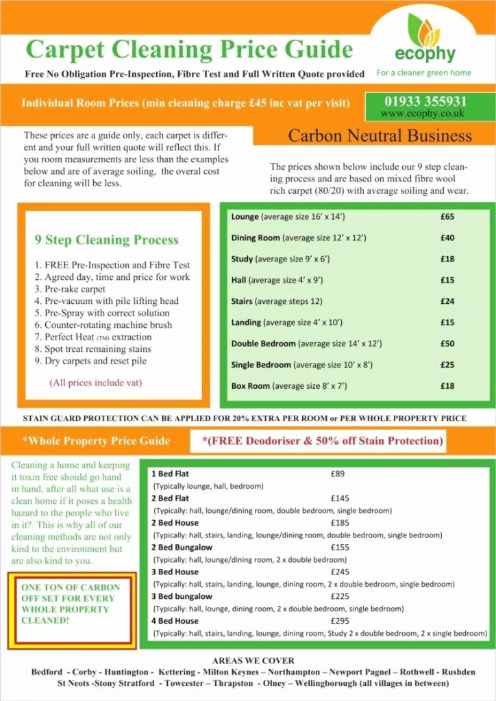 Carpet Cleaning Estimate Template Lovely Carpet Cleaning Estimate Template Excel