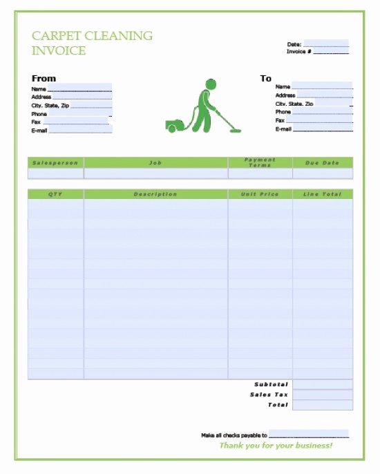 Carpet Cleaning Invoice Template Best Of Free Carpet Cleaning Service Invoice Template