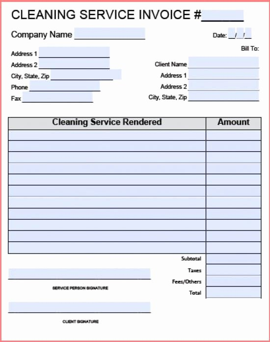 Carpet Cleaning Invoice Template Elegant Carpet Cleaning Invoice