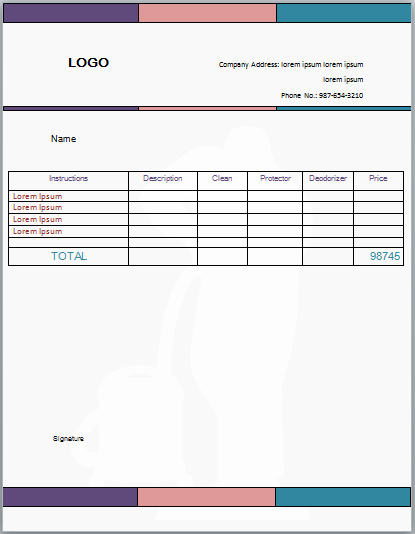 Carpet Cleaning Invoice Template Fresh Professional Carpet Cleaning Invoice Templates Impress