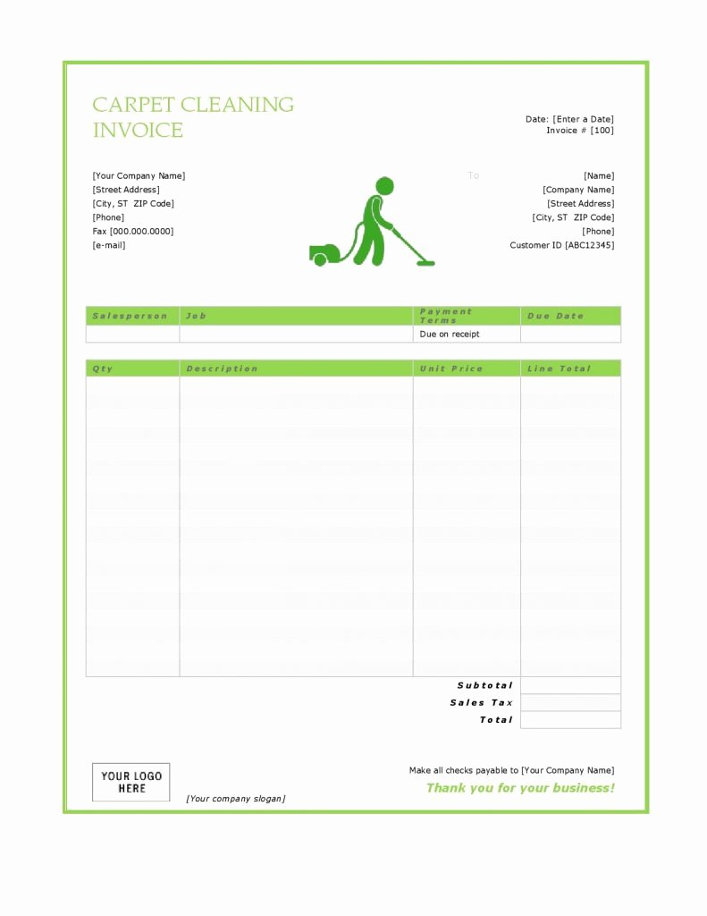 Carpet Cleaning Invoice Template Lovely 27 Blank Invoice Templates Free Word Pdf Psd