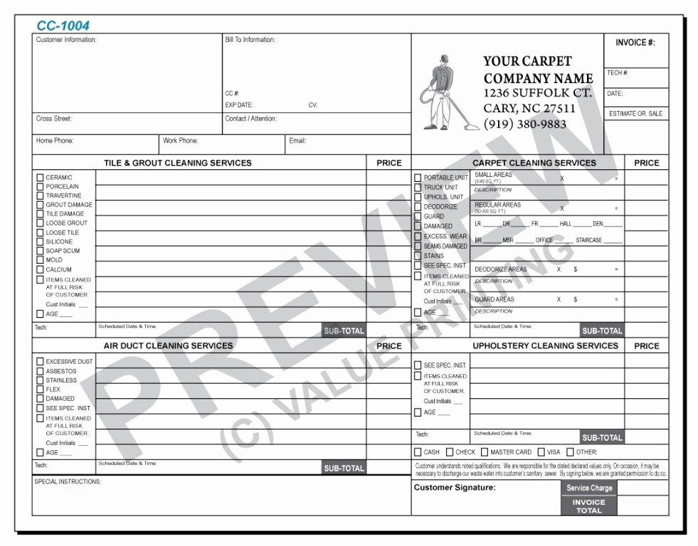 Carpet Cleaning Invoice Template New Free Carpet Cleaning Invoice Template – ifa Rennes