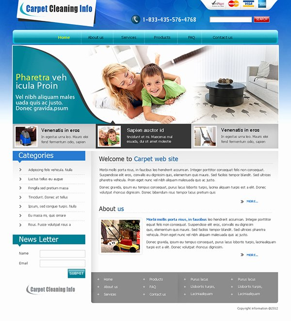 Carpet Cleaning Website Template Elegant Carpet Cleaning Website Templates On Behance