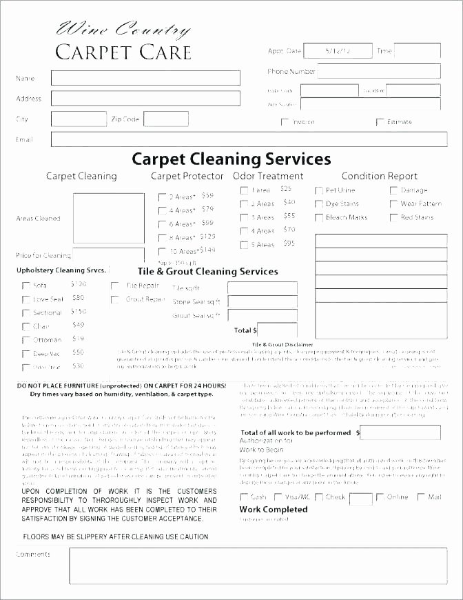 Carpet Cleaning Website Template Luxury Carpet Cleaning Estimate forms