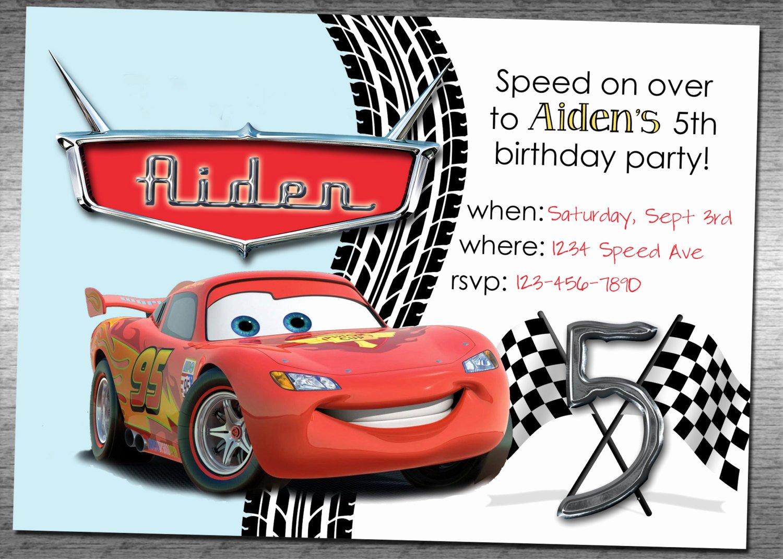Cars Birthday Invitation Template Beautiful Cars Birthday Invitation