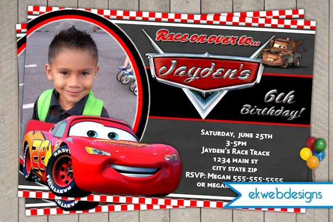 Cars Birthday Invitation Template Best Of Disney Cars Birthday Invitations Disney Cars Birthday