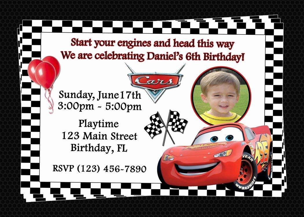 Cars Birthday Invitation Template Fresh Free Printable Birthday Invitations Cars