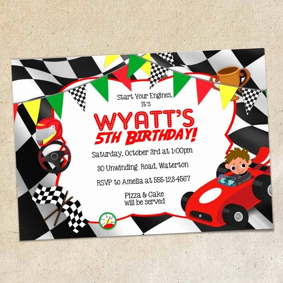 Cars Birthday Invitation Template Fresh Race Car Party Invitation Template Racing themed Invite Red