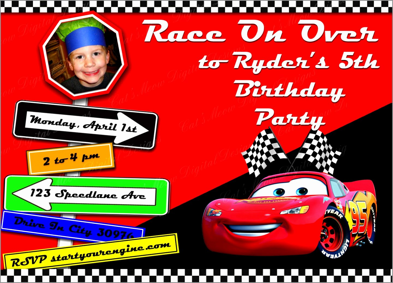 Cars Birthday Invitation Template Inspirational 5 Lightning Mcqueen Invitation Templates