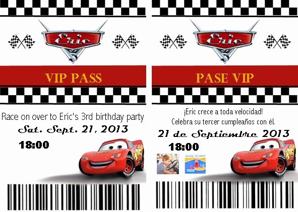 Cars Birthday Invitation Template Inspirational Disney Cars Birthday Party Invitations