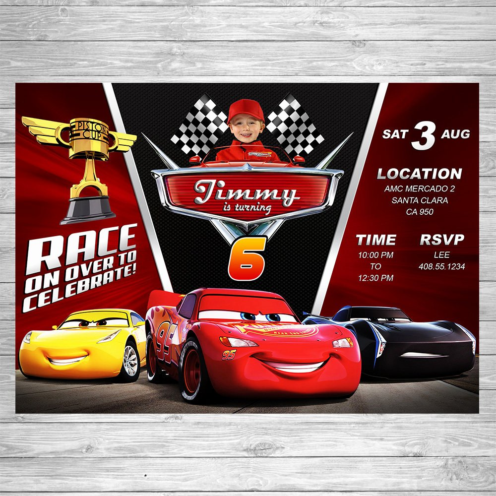 Cars Birthday Invitation Template Luxury Disney Cars 3 Birthday Invitation Cars 3 Party Invite Disney
