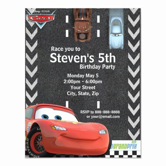 Cars Birthday Invitation Template New Cars Birthday Invitation