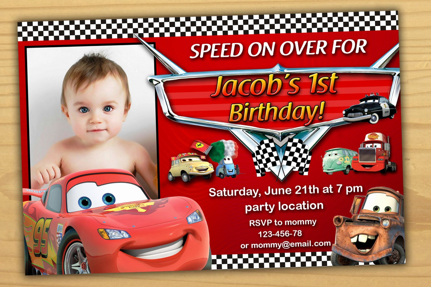 Cars Birthday Invitation Template New Disney Cars Birthday Invitation Disney Cars Invitation Cars