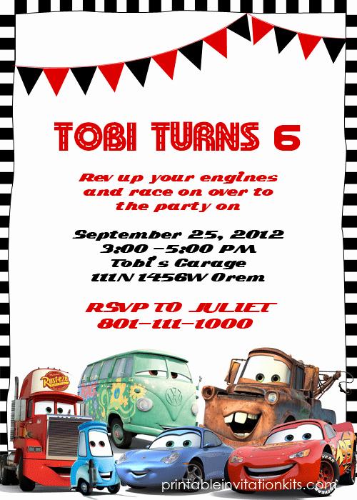Cars Birthday Invitation Template New Disney Cars Birthday Invitation ← Wedding Invitation