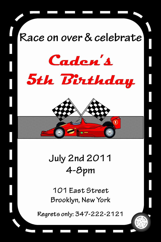 Cars Birthday Invitation Template New Printable Race Car theme Custom Birthday by