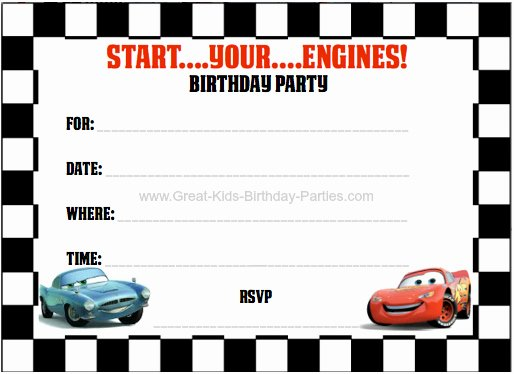 Cars Birthday Invitation Template Unique 40th Birthday Ideas Cars 2 Birthday Invitation Templates Free