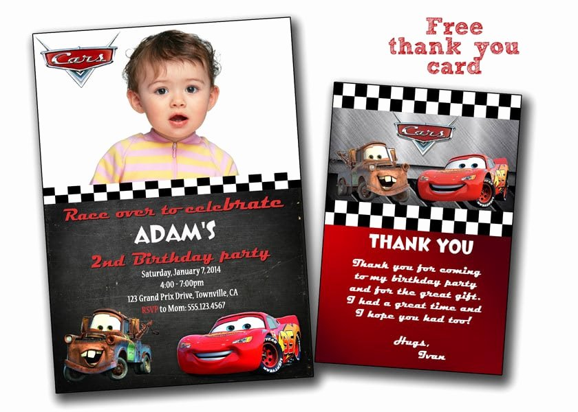 Cars Birthday Invitation Template Unique Free Printable Disney Cars Birthday Invitations