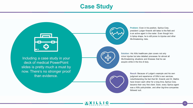 Case Study Presentation Template Elegant Medical Premium Powerpoint Slide Templates